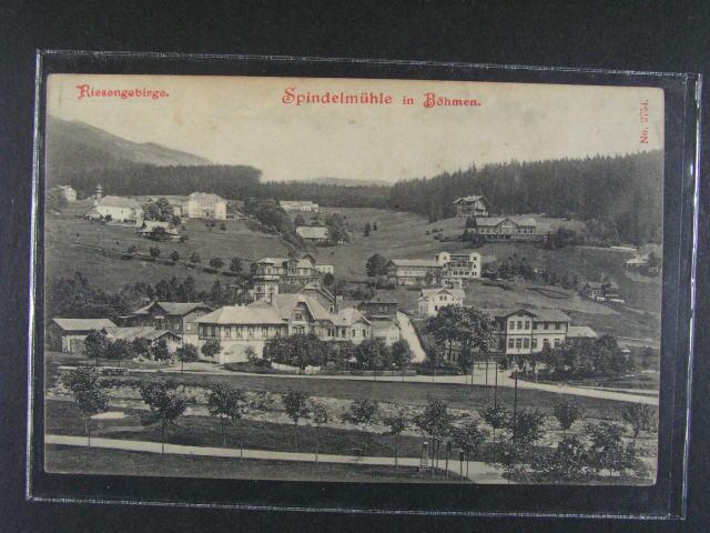 Špindler?v Mlýn - jednobar. pohlednice z r. 1912, nepoužitá