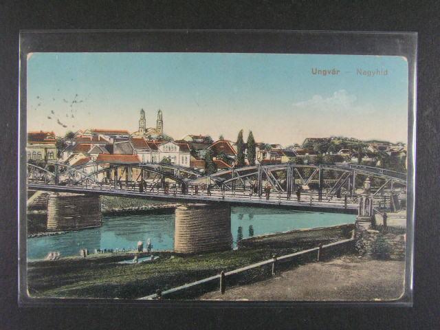 Ungvár (Užhorod) - bar. pohlednice p?epr. ?S PP ?. 75 + útvar. raz. R-POSTE 31. REGIMENTO C.S..