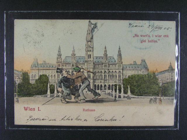 Wien - bar. litograf., použitá 1905