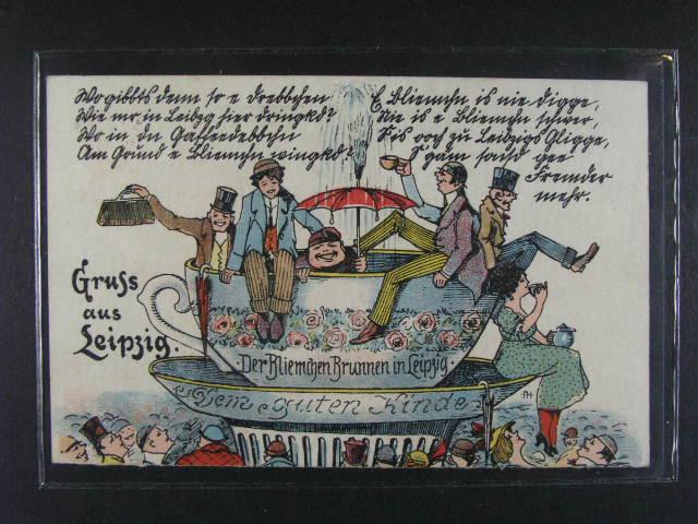 N?mecko - Lipsko - bar. litograf. pohlednice , použitá