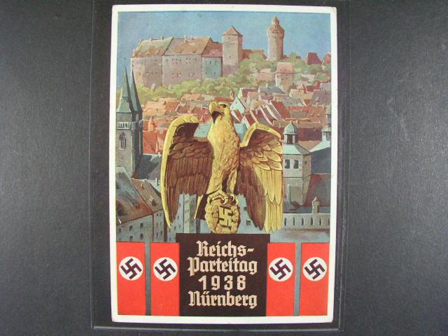 bar. pohl. Reichsparteitag Nürnberg 1938, použitá, velmi dobrá kvalita
