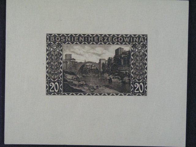 ZT vydání krajinky 1906 20h v aršíkové úprav? v orig. barv? na karton. papí?e
