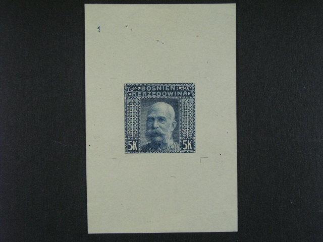 ZT vydání krajinky 1906 5K v ašíkové úprav? v orig. barv? na známkovém papí?e bez lepu