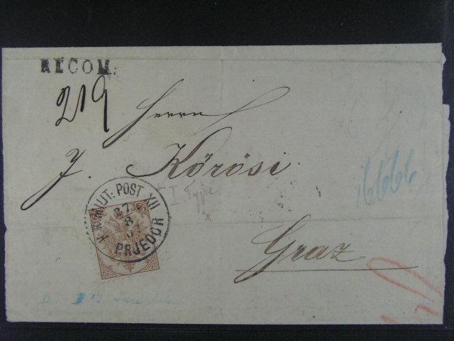 R-dopis do Grazu frank. zn. Mi. ?. 6, pod. raz. K.u.K. MP XII 27.8.1907 kvalita k prohlédnutí