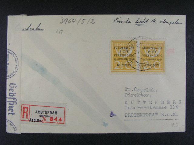 sestava 5 ks dopis? (3x RECO) z let 1943 - 48, zajímavé