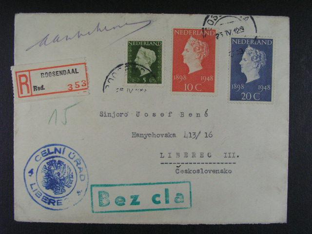 sestava 8 ks celistvostí  (3x RECO) z let 1912 - 49, zajímavé frankatury