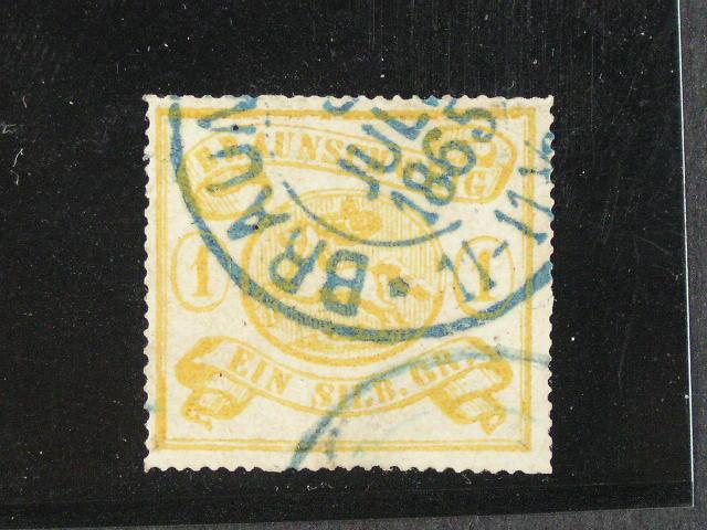 Braunschweig - zn. Mi. ?. 14 A s modrým raz. , 170 EUR