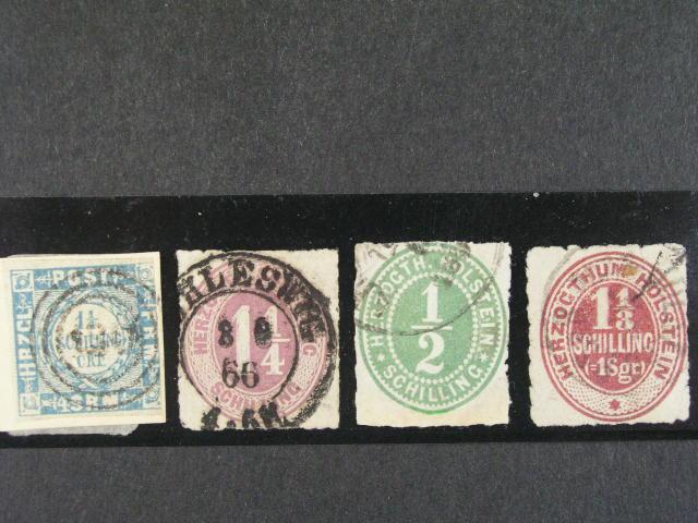 Schleswig - Holstein - zn. Mi. ?. 6, 9, 19, 23, cca 280 EUR