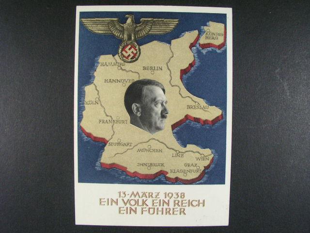 t?i celinové propag. pohlednice A.H. Ein Reich ... (2x použité v Insbrucku, 1x v Berlin?), dobrá kvalita