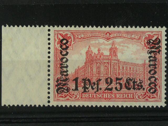 Maroko - zn. Mi. ?. 43 s levým okrajem, 220 EUR