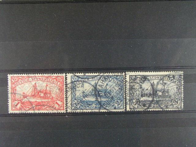 S.W. Afrika - zn. Mi. ?. 20 - 22, cca 140 EUR
