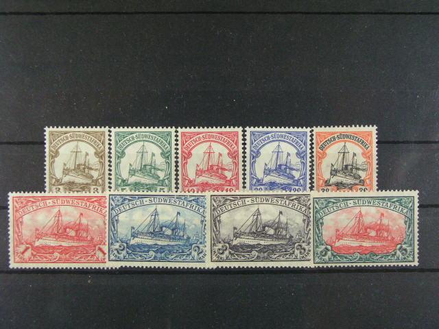 S.W. Afrika - zn. Mi. 24 - 32, cca 100 EUR