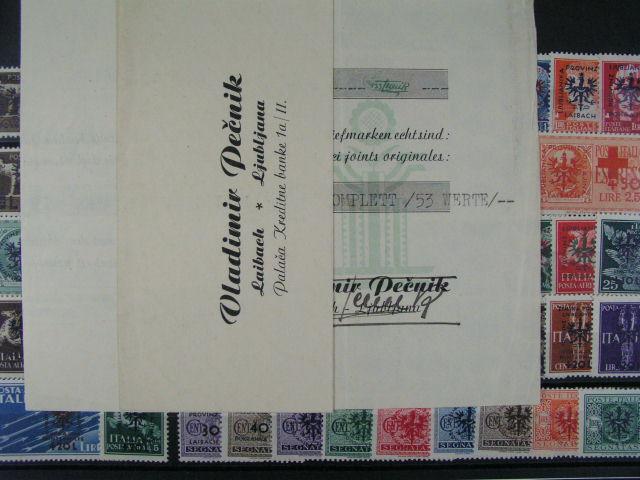 Laibach - zn. Mi. ?. 1 - 44 + Porto 1 - 9, zk. Pe?nik + atest z 15.5.44