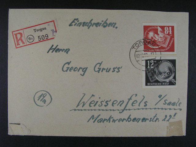 R-dopis frank. zn. Mi. ?. 271 - 2 a dopis frank. zn. Mi. ?. 275, cca 150 EUR