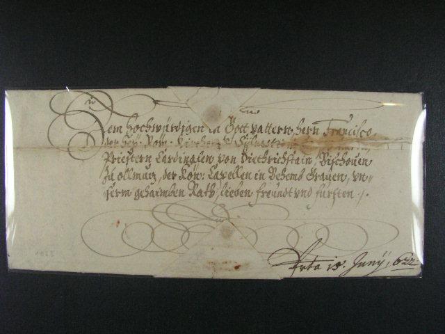 skl. císa?ský dopis z r. 1632 s podpisem cís. Ferdinanda II., kompl. neporušená pe?e?, kvalita k prohlédnutí