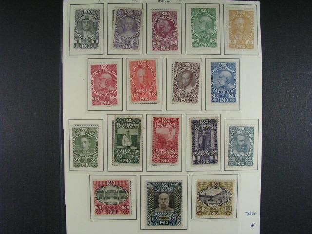 sestava zn. vydání 1910 Mi. ?. 161 - 177, v?. dublet, min. 1470 EUR