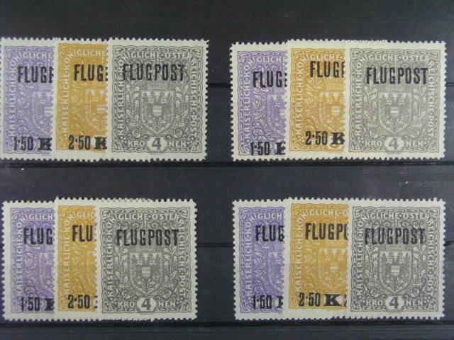 zn. Mi. ?. 225 xA - 227 xA, 225 yA - 227 yA (3x), cca 230 EUR