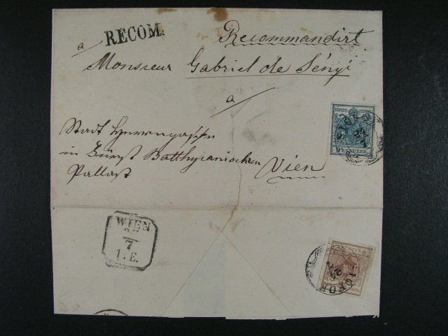 skl. R-dopis do Vídn? frank. zn. Fe. ?. 4, 5, pod raz. SIOFOK