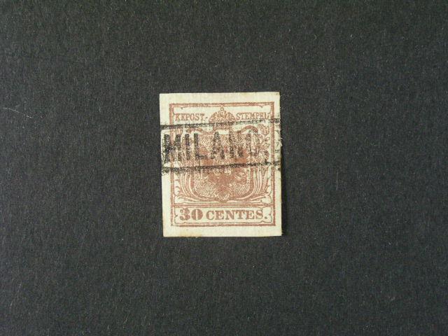 zn. Fe. ?. 4, typ I, Geriptespapier - rýhovaný papír s ráme?. raz. MILANO, 85 EUR