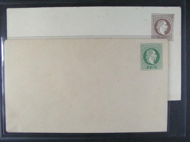 celinové obálky Mi. U 1 a U 5, nepoužité