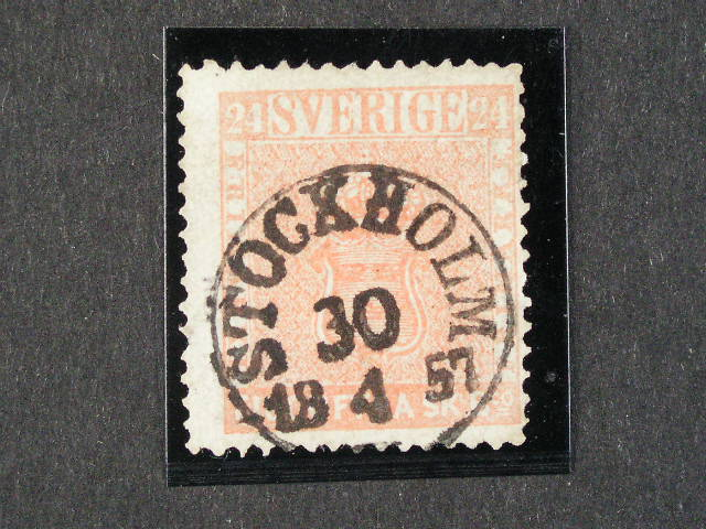 zn. Mi. ?. 5a s tém?? kompl. raz. STOCKHOLM 30.4.1857, zk. Müller, velmi dobrá kvalita, 2000 EUR