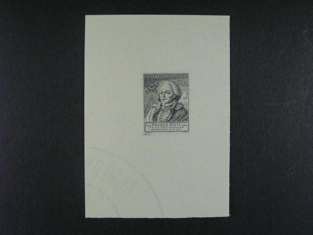 otisk orig. rytiny zn. ?. 794 v ?erné barv? na kousku papíru, autor B. Roule