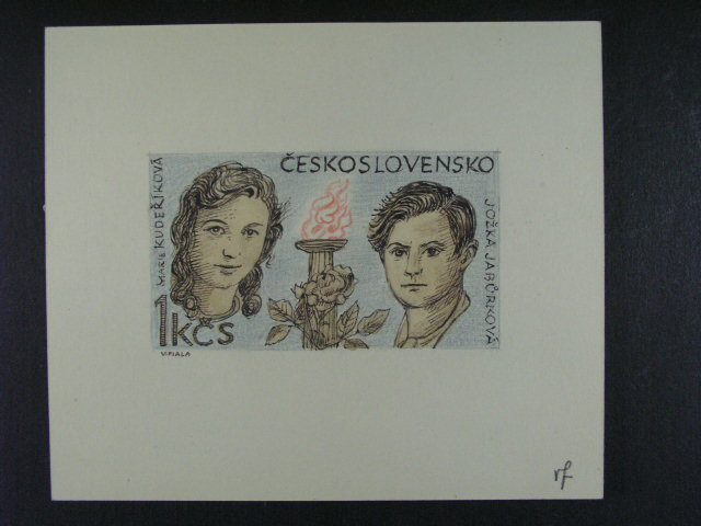 bar. p?edlohová kresba rozm. 85 x 46 , ke zn. ?. 2018, sign. V.F.