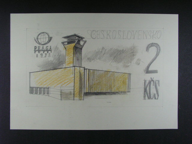 orig. kolorovaná kresba tužkou formátu A4 ke zn. ?. 2331, autor J. Chudomel