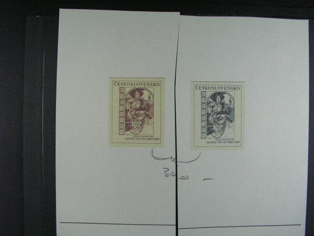 otisk orig. rytiny V. Fajta - pozvání na banket 1900 A. Mucha ve dvou barvách s podpisem autora
