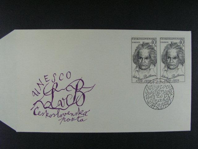 FDC frank. zn. ?. 1813 ST ve vodorovné dvoupásce, kat. cena 1000 K?
