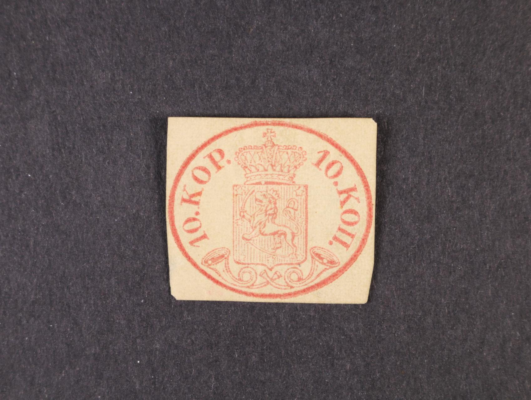 zn. Mi. č. 2, pěkný střih, v levém spodním rohu mimo obraz zn. zeslabený papír, na zadní str. majetnické značky