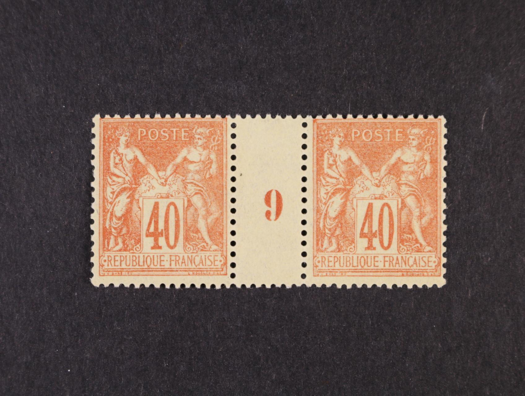 zn. Mi. č. 65 II ve vodorovném meziarší s číslicí 9, min. 300 EUR