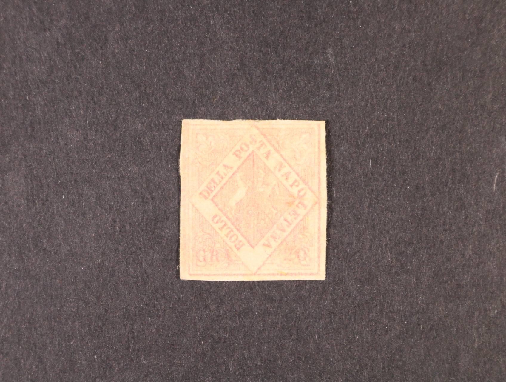 Neapol - zn. Sassone č. 13 IIa, zk. Köhler, zlatý atest Raybaudi, velmi dobrá kvalita, 22000 EUR