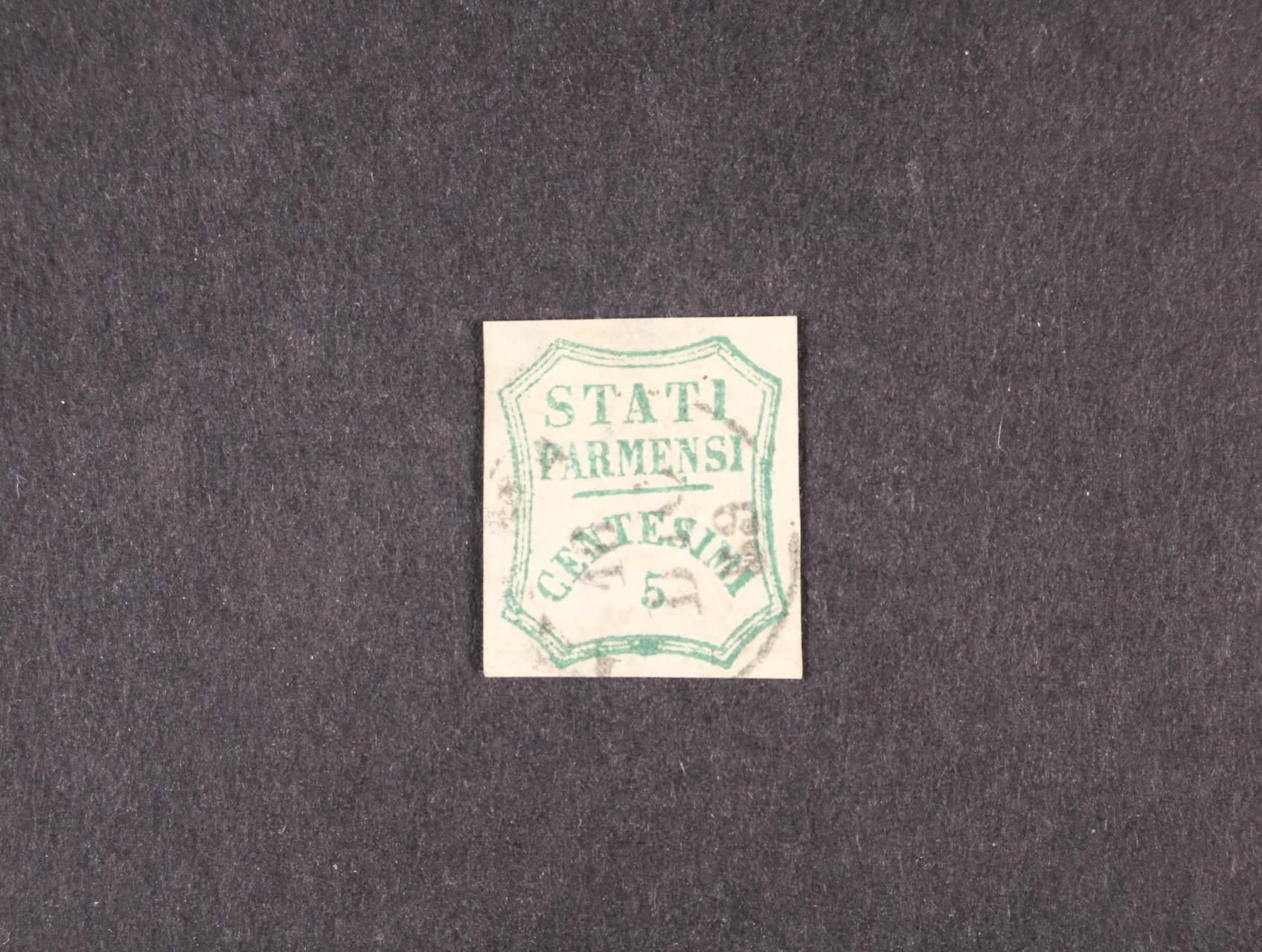 Parma - zn. Mi. č. 12b, Sass. č. 12, atest Raybaudi, 4000 EUR