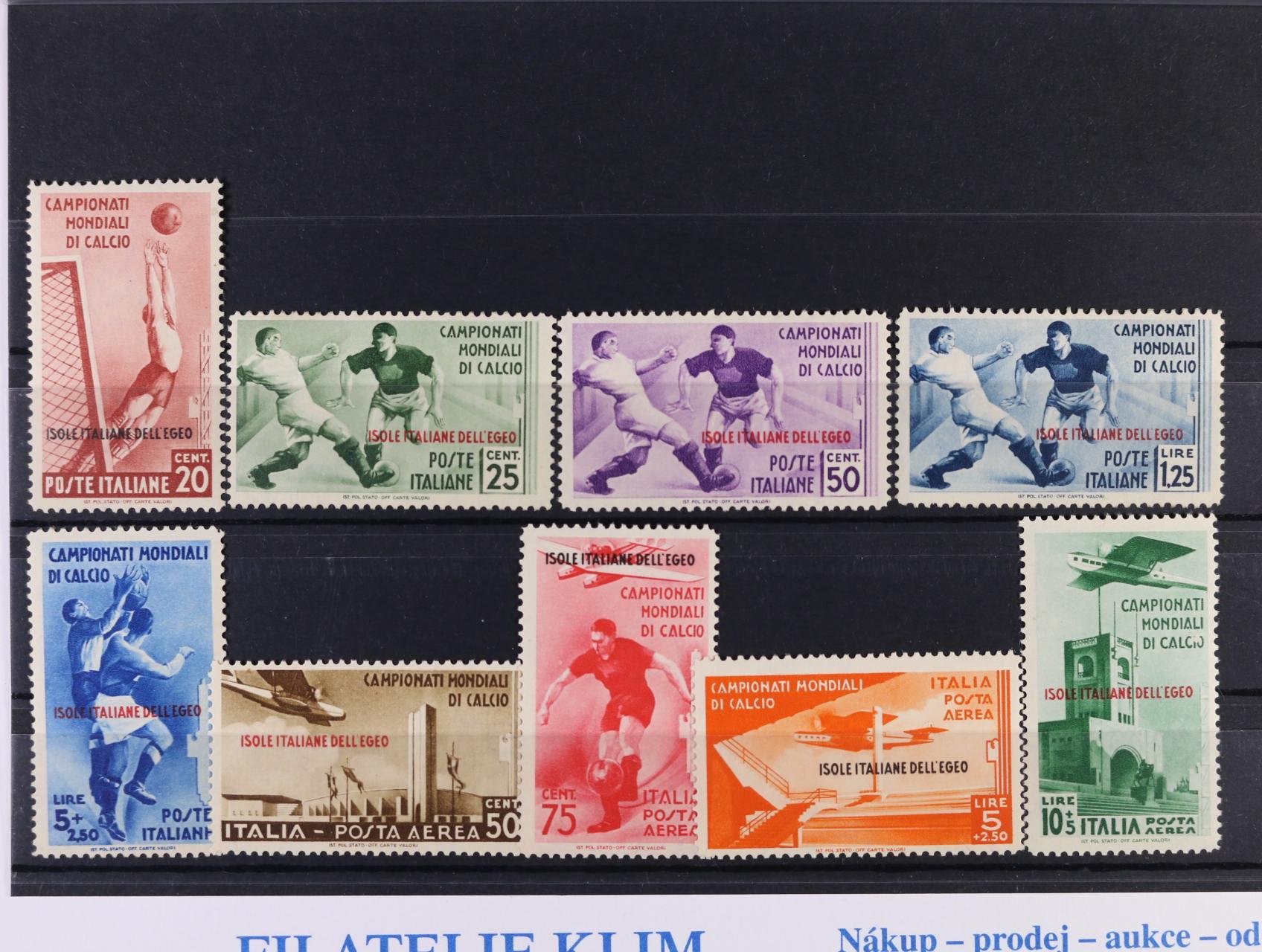 Isole .... Egeo - zn. Mi. č. 137 - 145, velmi dobrá kvalita, 1300 EUR