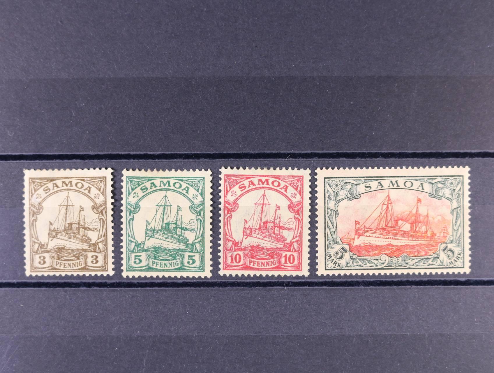 Samoa - zn. Mi. č. 20 - 23