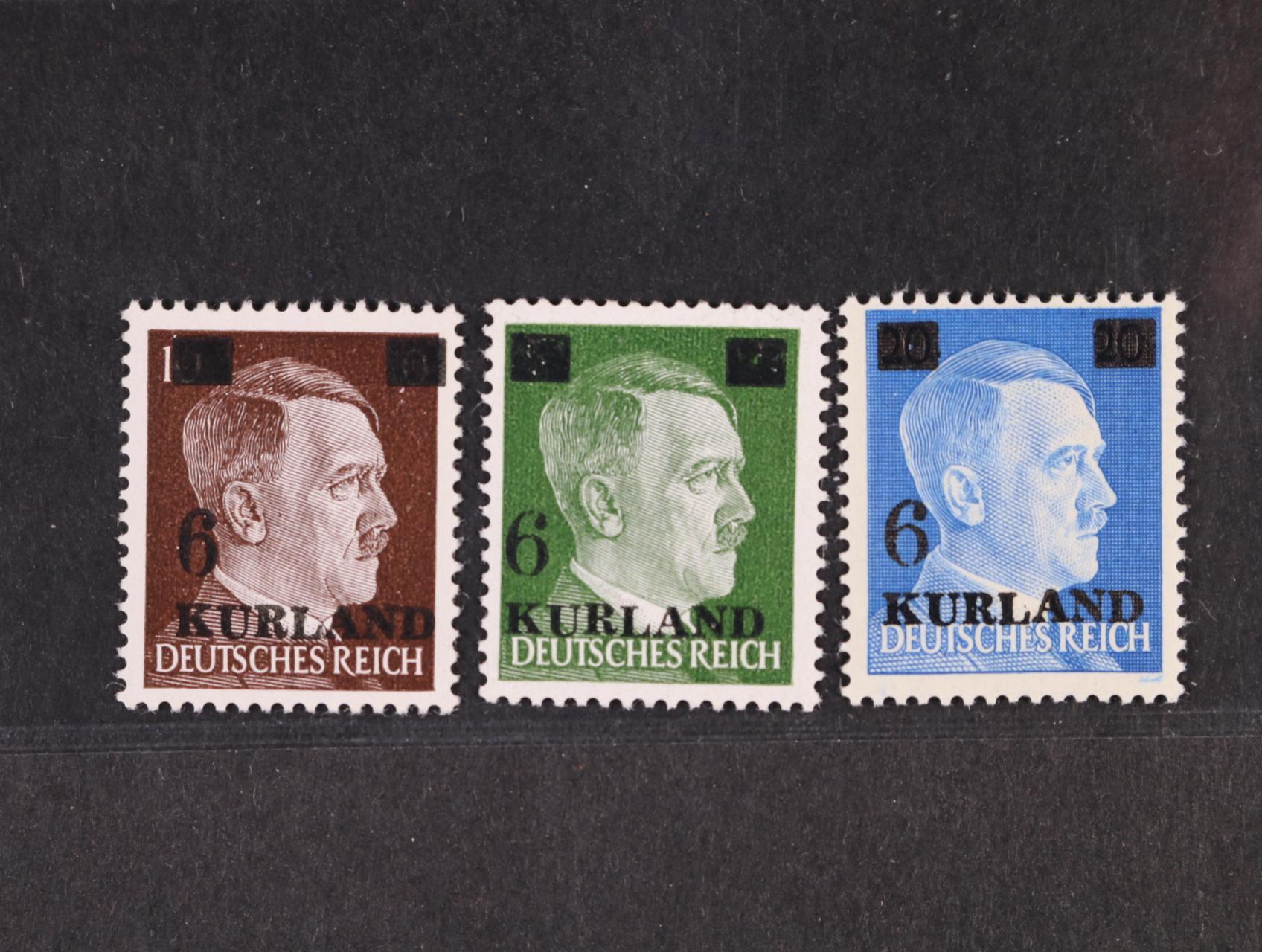 Kurland - zn. Mi. č. 1 - 3