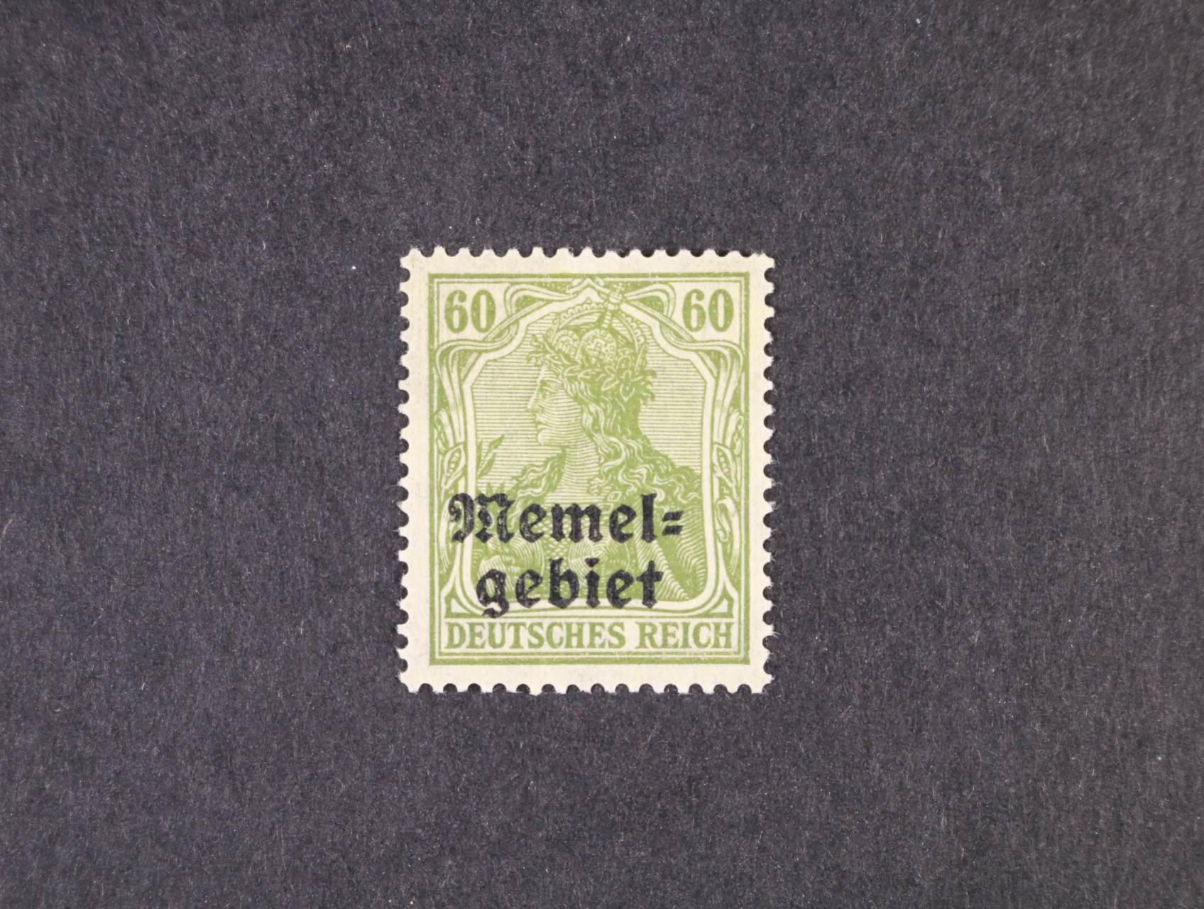 Memelgebiet - zn. Mi. č. 16y svisle rýhovaný lep, 300 EUR