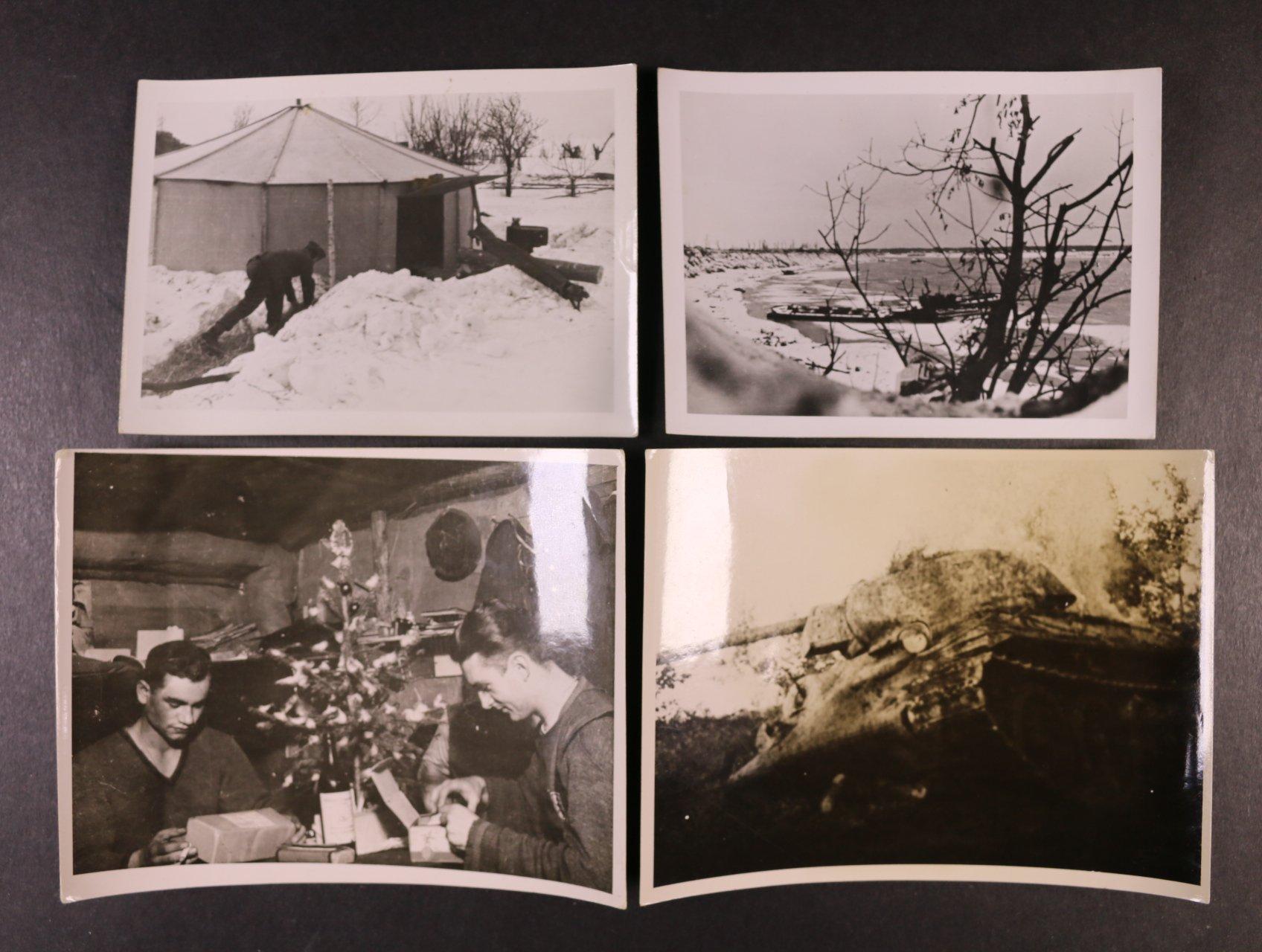 sestava 32 ks fotografií z II. svět. války s popisy, zajímavé