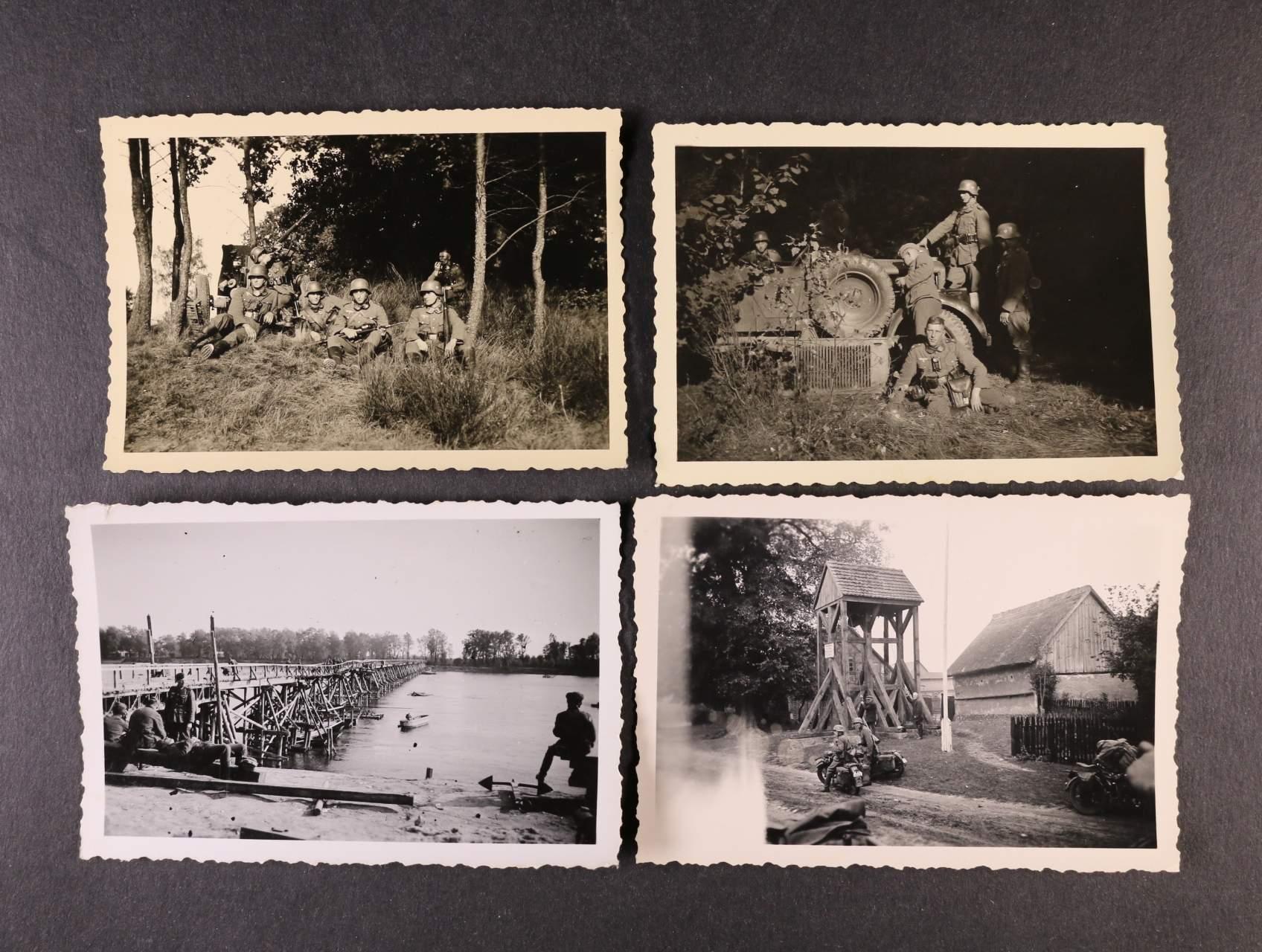 sestava 52 ks fotografií z II. svět. války s popisy, zajímavé