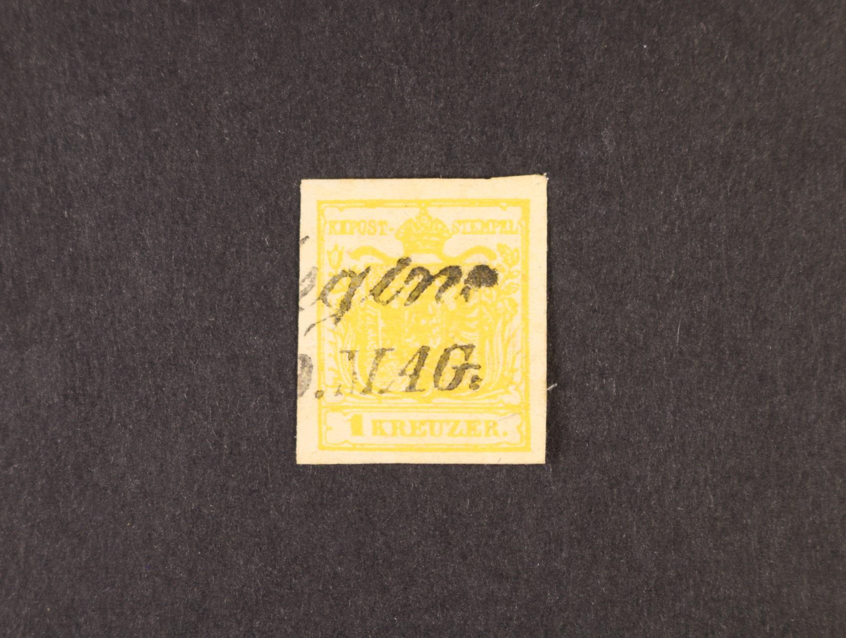 zn. Fe. č. 1 MP, typ III, velmi pěkný střih