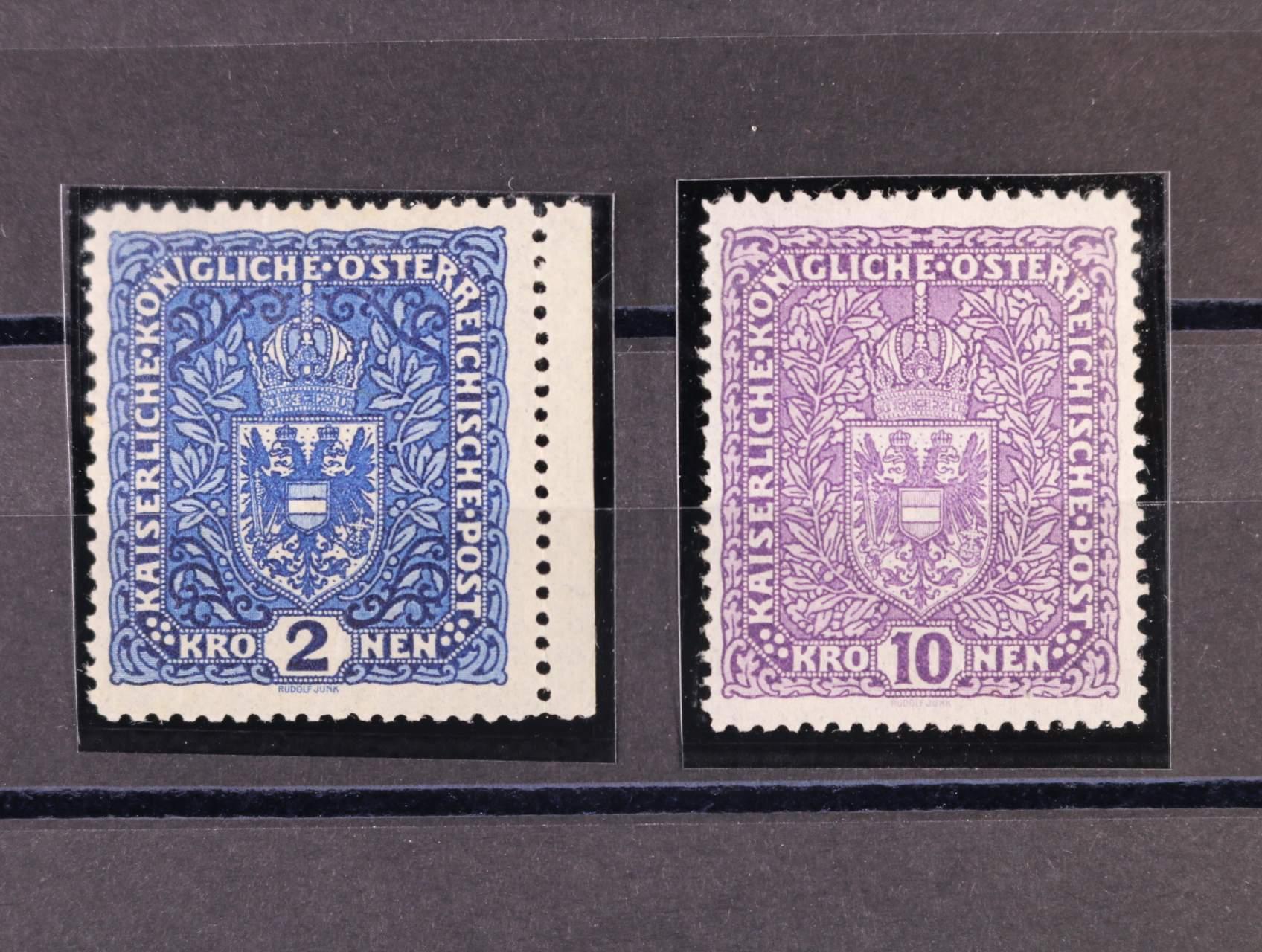 zn. Mi. č. 200 II mírně zvrásněný papír, zn. Mi. 207 Iz šedý papír, 430 EUR