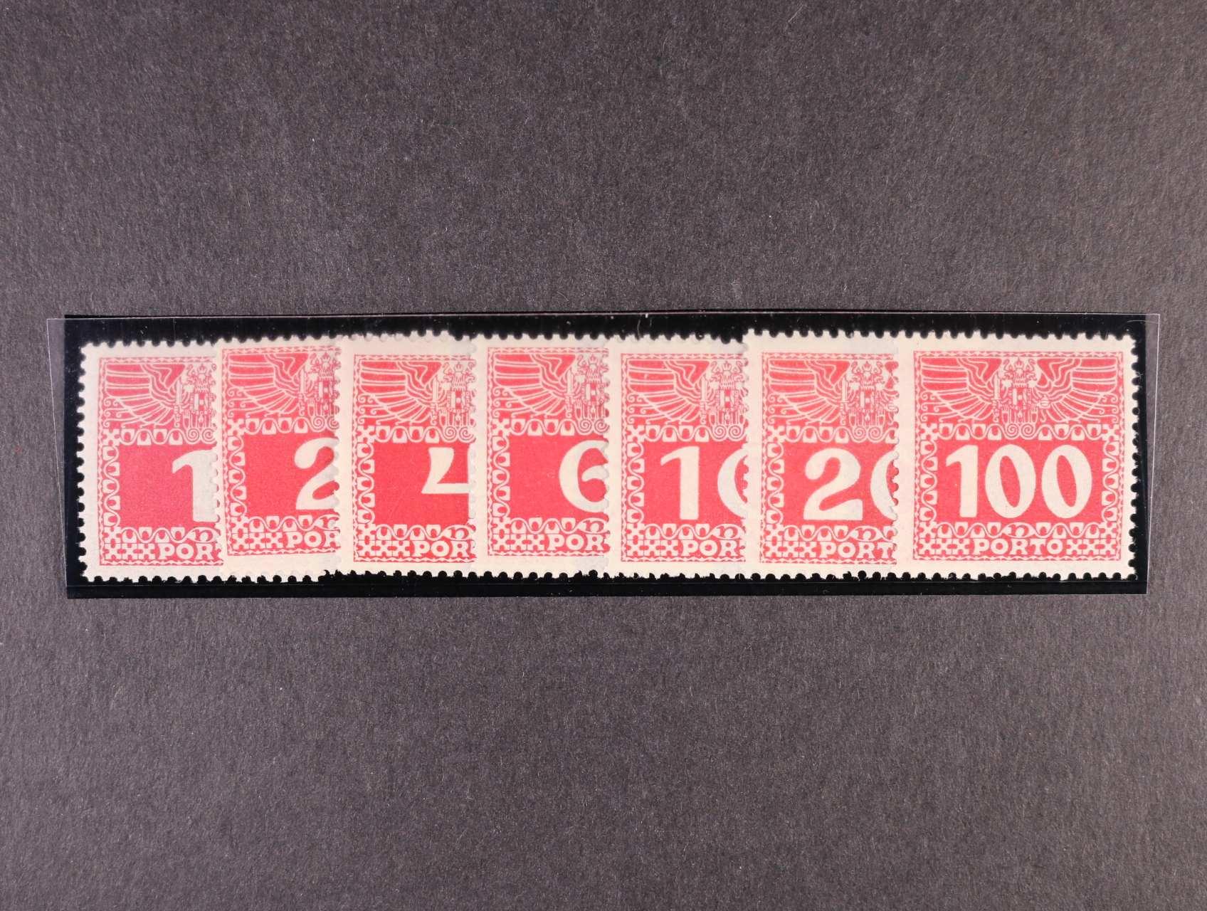 zn. Mi. P 34y - P 44y doplatní na tenkém průsvitném papíře, 550 EUR