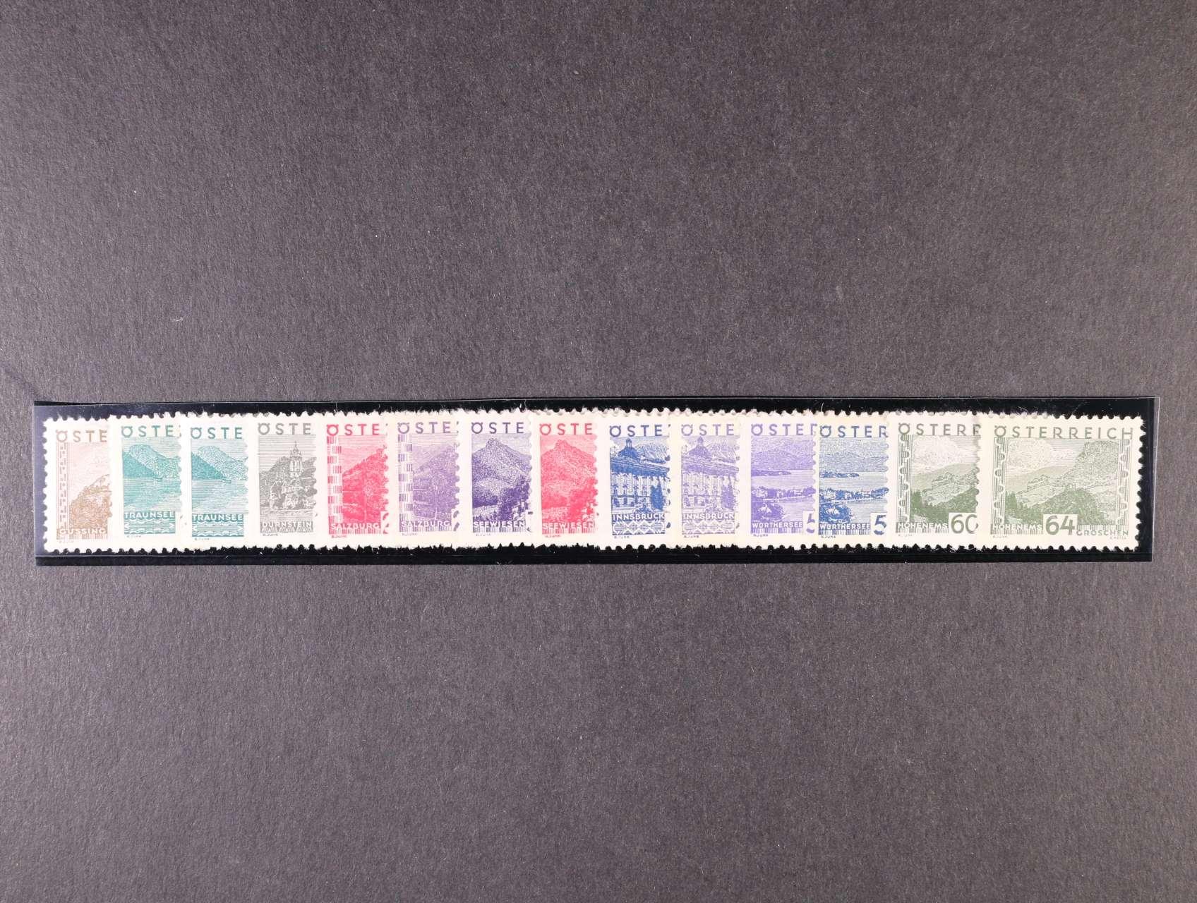zn. Mi. č. 530 - 543 Krajinky malý formát, kompl. série, 1000 EUR