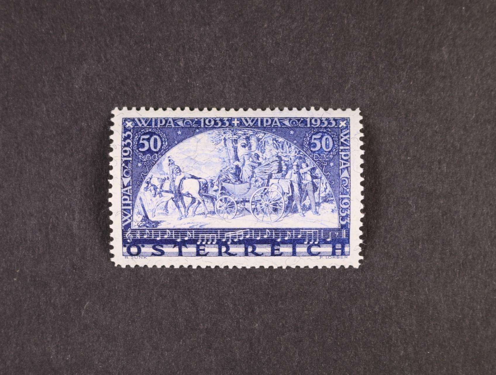 zn. Mi. č. 556 A WIPA - žilkovaný papír, 750 EUR