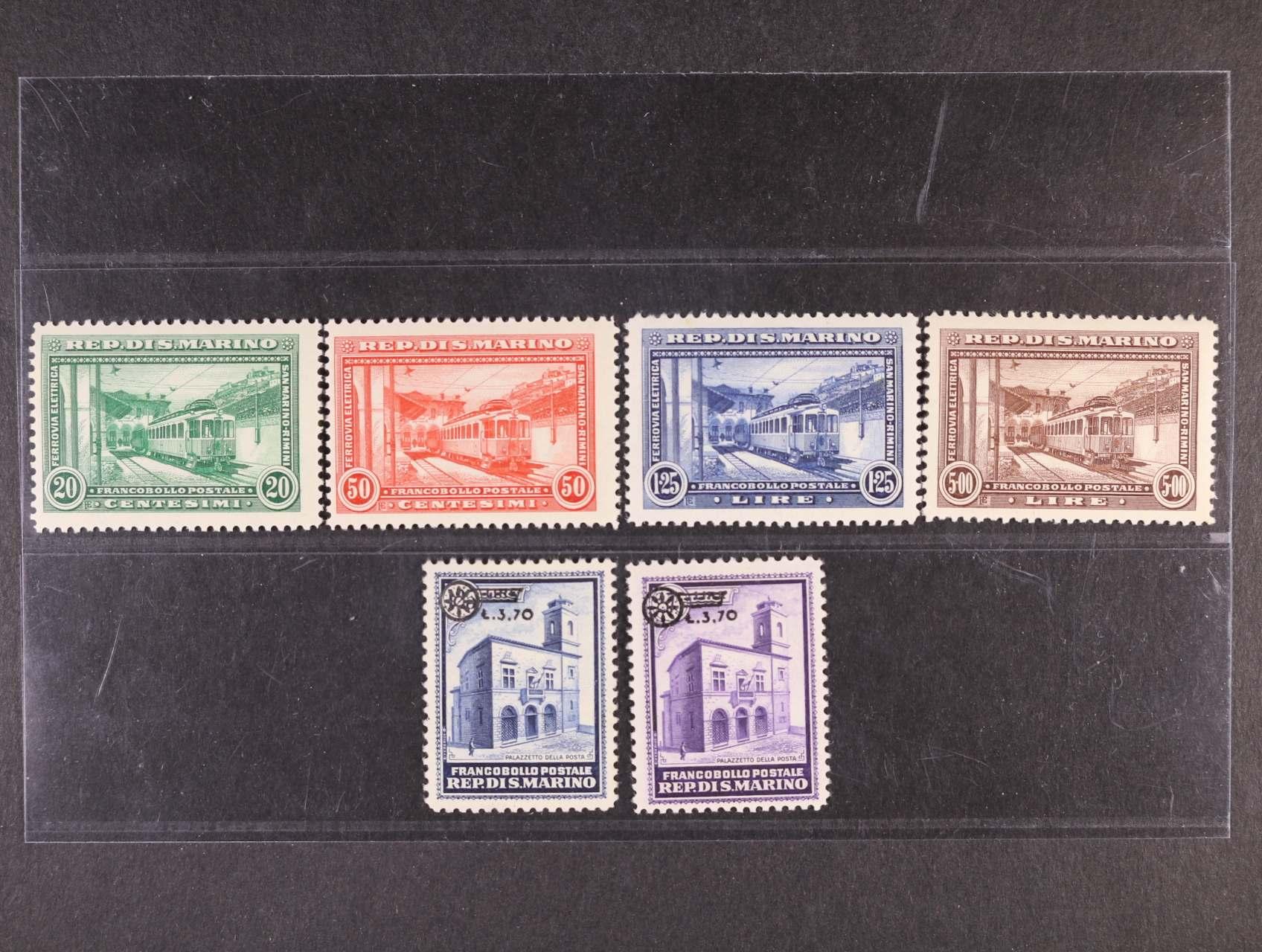 zn. Mi. č. 180 - 83, 206 - 7, 540 EUR