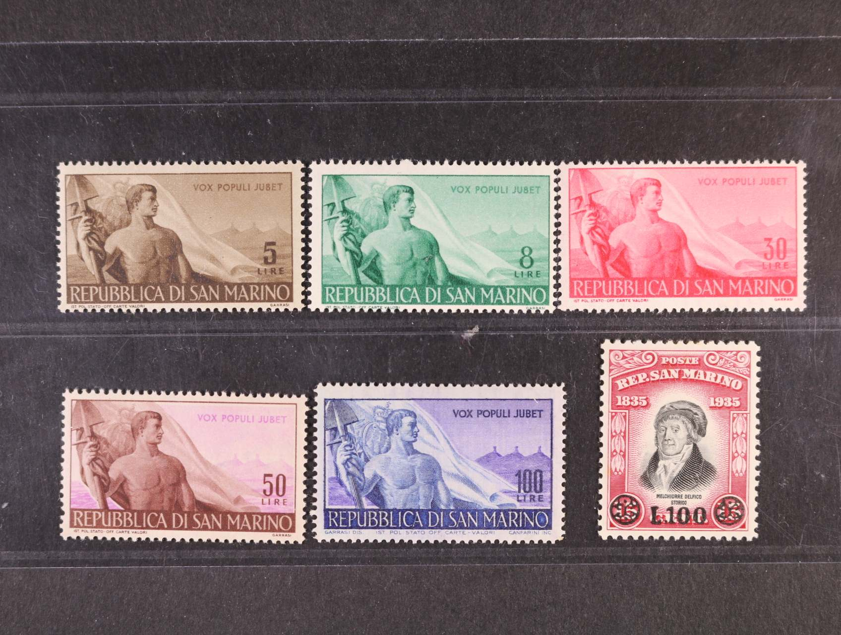 zn. Mi. č. 397 - 402, 170 EUR