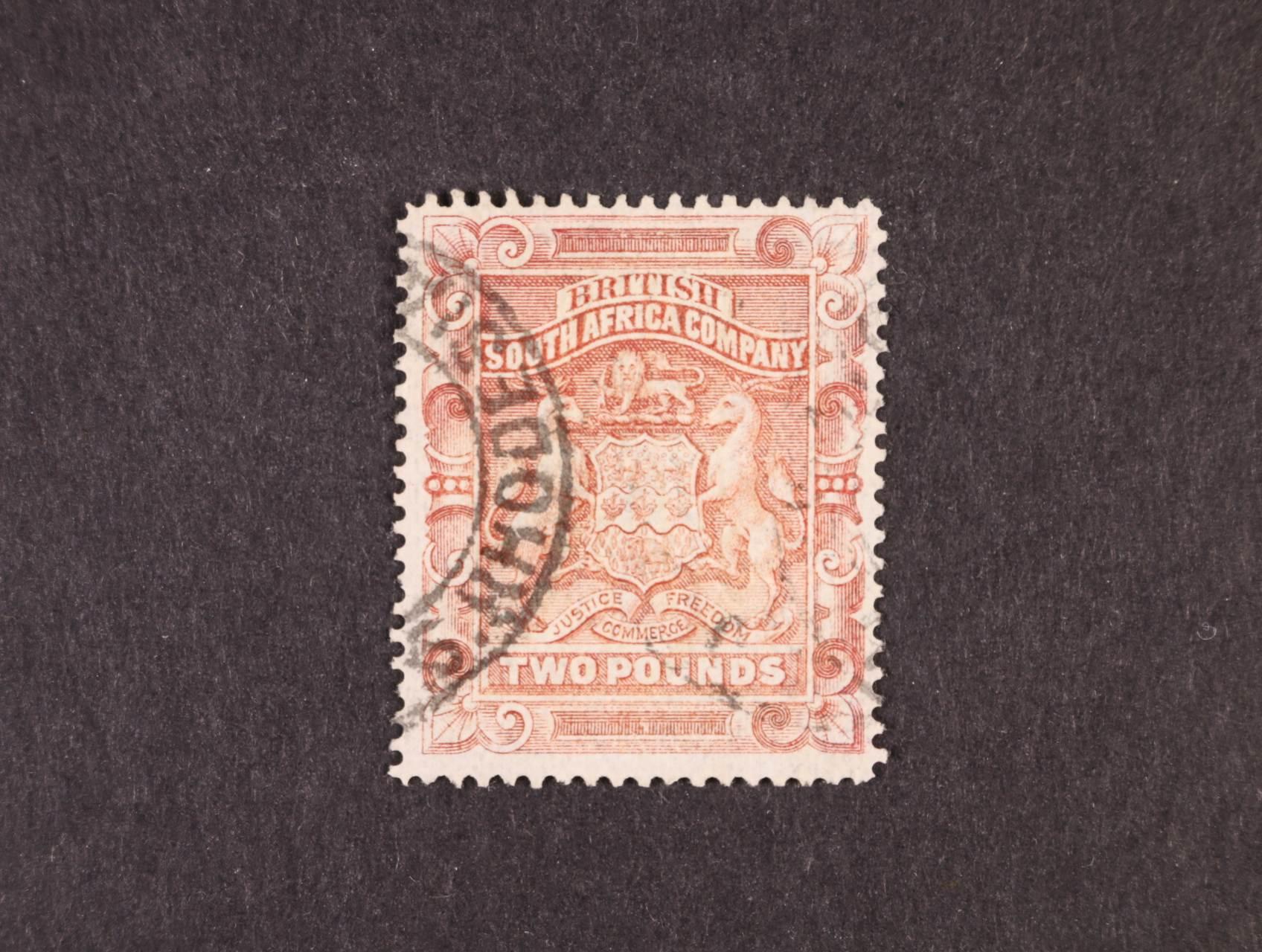 Britská Jižní Afrika - zn. Mi. č. 9, 2Libry, 240 EUR