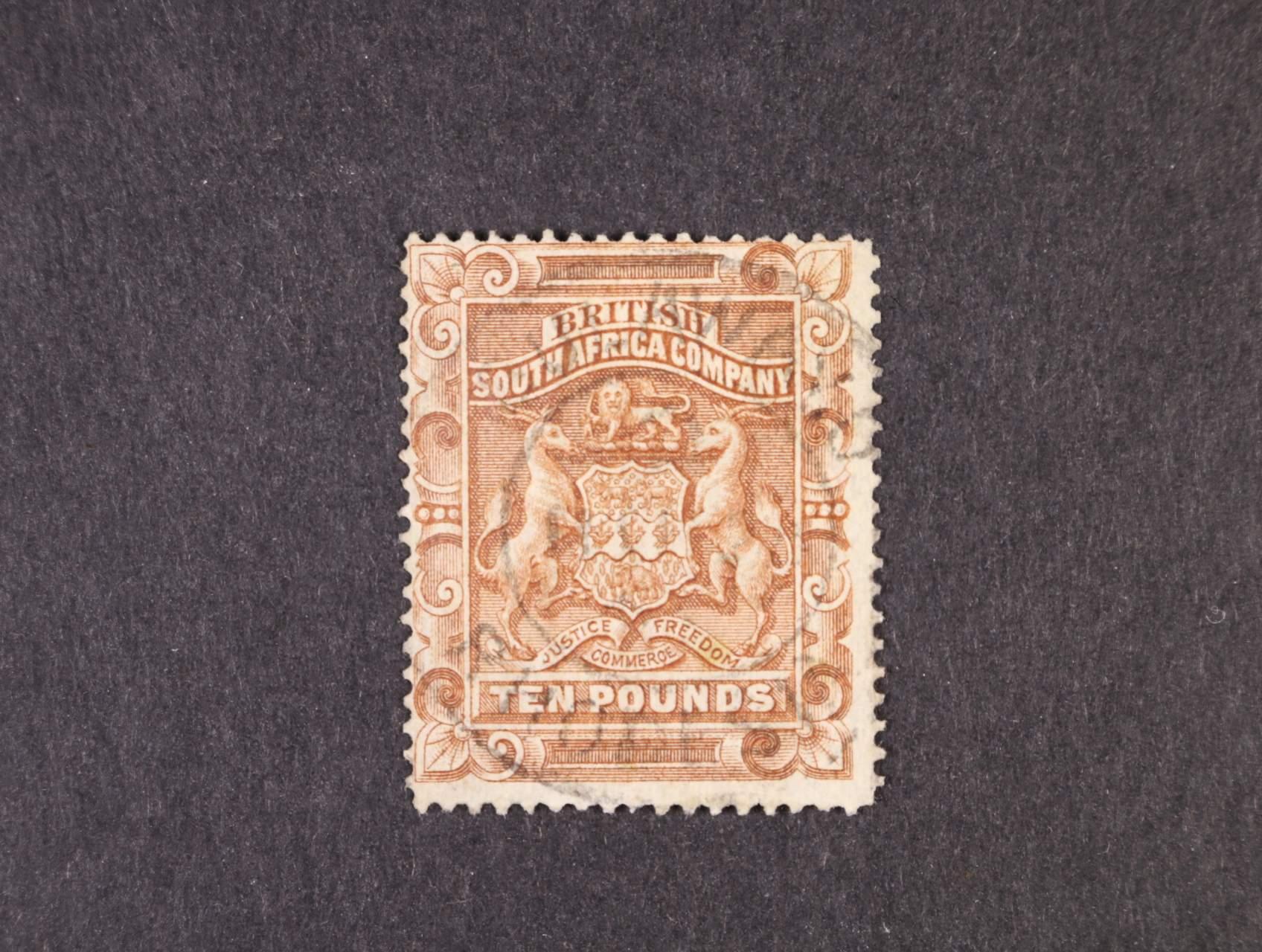 Britská Jižní Afrika - zn. Mi. č. 11, 10Liber, 1300 EUR