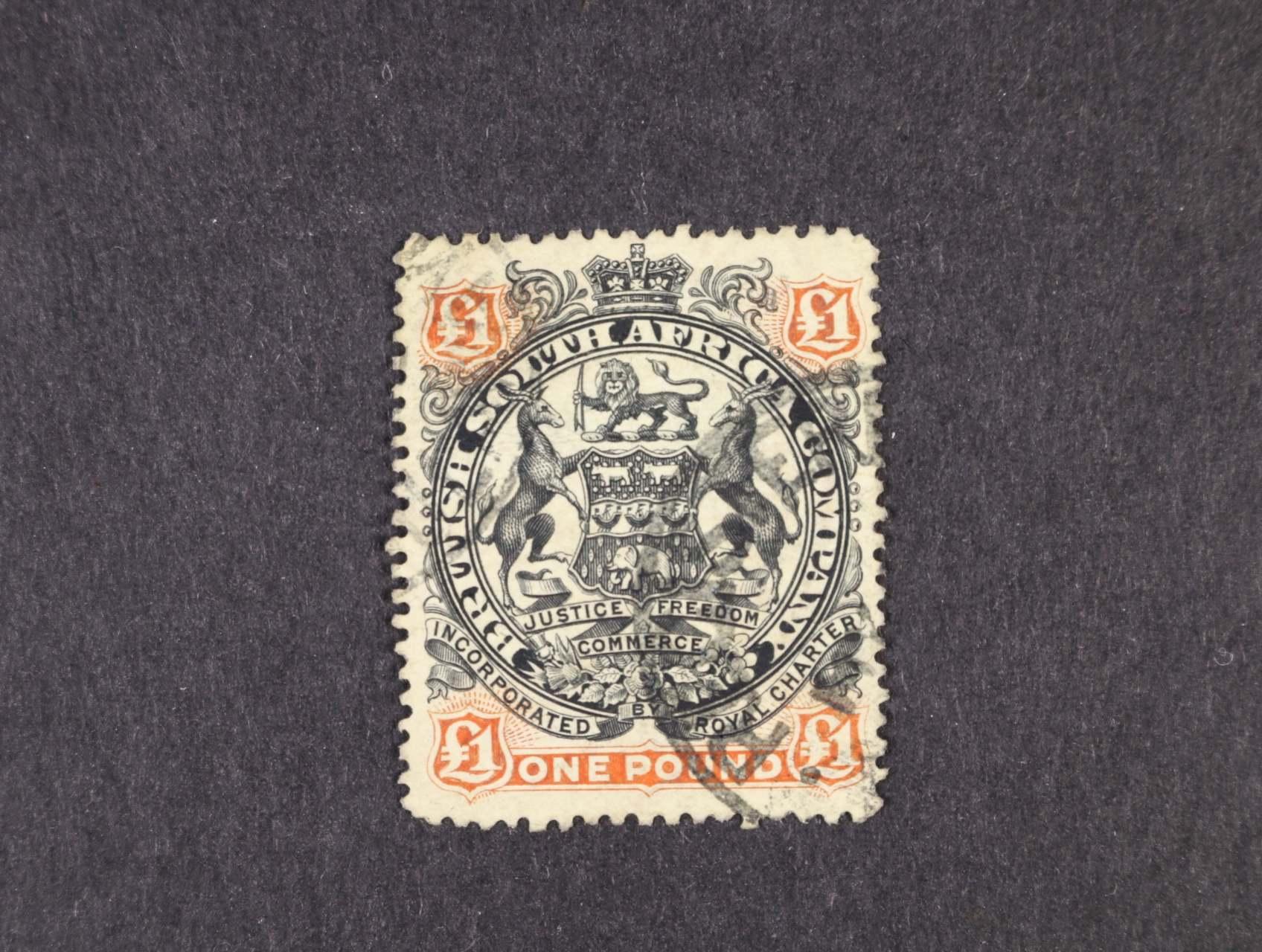 Britská Jižní Afrika - zn. Mi. č. 56, 1Libra, 370 EUR